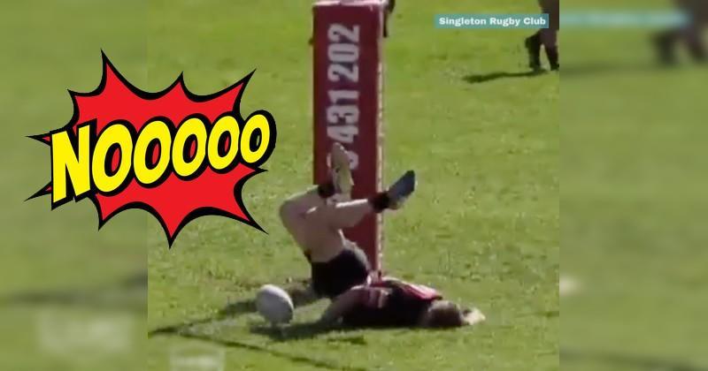 WTF - Un rugbyman réinvente le coup du scorpion à ses dépens [VIDÉO]