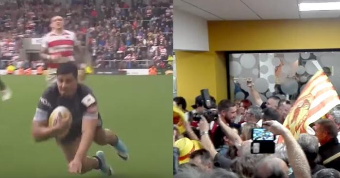 VIDÉO. XIII. Les Dragons Catalans accueillis en héros après leur maintien en Super League