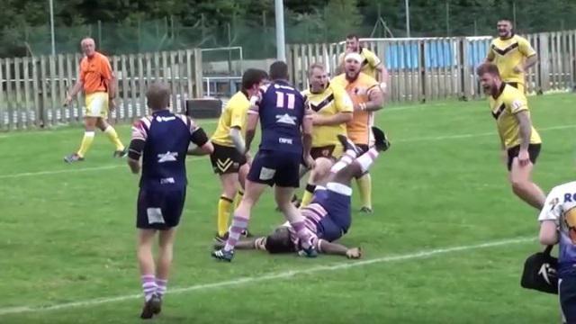 VIDEO. Rugby amateur #90 : un pilier de 160 kilos explose comme du popcorn au contact