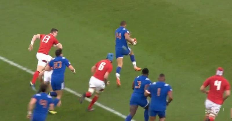 VIDÉO. Pays de Galles - XV de France : Gaël Fickou lâche les gaz pour conclure une superbe action collective des Bleus