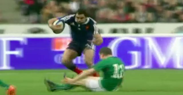 VIDÉO. France - Irlande : Yoann Huget laisse Brian O'Driscoll pour mort sur un superbe tchik tchak