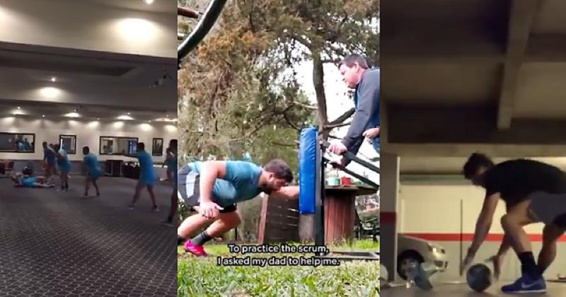 Dans leur jardin, à l'hôtel, voilà comment les Pumas ont préparé le match face aux Blacks [VIDEO]