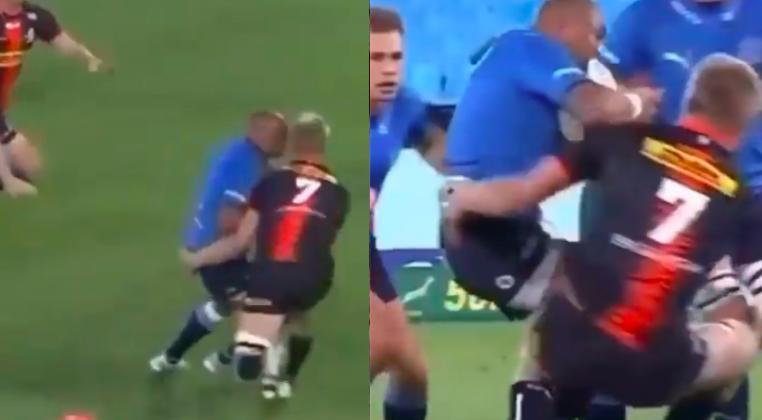 VIDEO - Quand PS Du Toit (120kg) se fait violemment asseoir par Cornal Hendricks (96kg) !