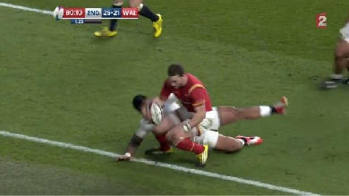 VIDÉO. VI NATIONS. Angleterre - Galles : George North avait-il le pied en touche à la 79ème minute ?