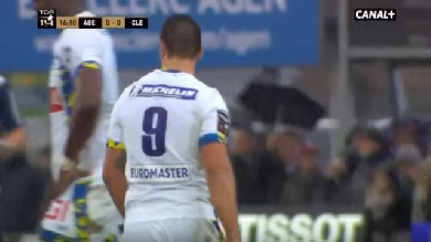 VIDEO. Top 14 - ASM Clermont : La passe casse-croûte de Ludovic Radosavljevic face à Agen