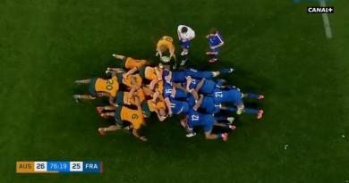 VIDEO. XV de France. Avec Danty en 3e ligne, la mêlée bleue emporte les Wallabies pour la victoire