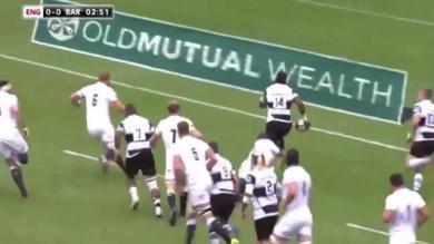 VIDEO. Barbarians : Timoci Nagusa régale et enrhume la défense de l'Angleterre avec... une course en travers