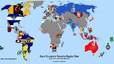 Quels sont les clubs de rugby les plus populaires dans chaque pays ?