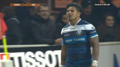 VIDEO. Top 14 : Le Castres Olympique marche sur Agen avec le quadruplé de David Smith