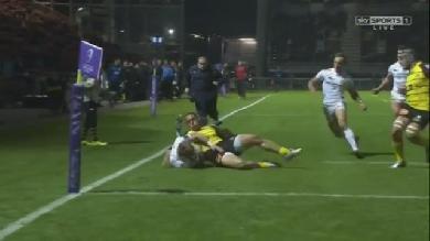 VIDEO. Challenge Cup - La Rochelle. Le sauvetage in extremis mais vain de Damien Cler face à Exeter