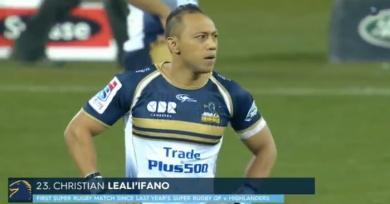 VIDEO. Le retour de Christian Lealiifano en Super Rugby moins d'un an après l'annonce de sa leucémie