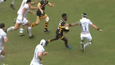 VIDEO. Premiership - Christian Wade fait l'amour à la défense de Bath sur 50 mètres