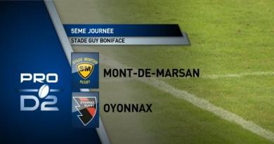 Coronavirus - Pro D2. Stade Montois vs Oyonnax reporté avant la 5e journée