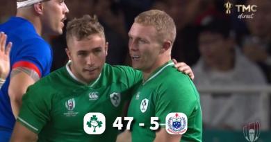 COUPE DU MONDE : L'Irlande fait le job face aux Samoa, et se qualifie pour les 1/4 !