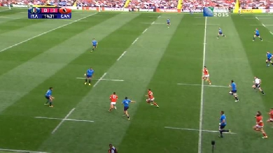 RESUME VIDEO. Coupe du monde. Le Canada s'incline face à l'Italie malgré un sublime essai de 80m