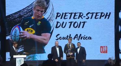 Et le Joueur de rugby à XV de l'Année est...Pieter-Steph du Toit