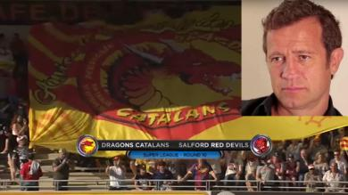VIDEO. XIII - Super League : Fabien Galthié en visite chez les Dragons Catalans