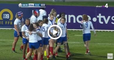 D'une passe au pied Coudert sert sur un plateau Vernier pour la victoire du XV de France féminin [VIDÉO]