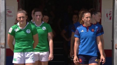 VIDEO. Clermont 7s. France 7 féminines corrige l'Irlande lors de son premier match (40-0)