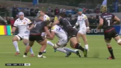 VIDEO. Premiership : la violente double charge sur Geoff Parling méritait-elle une double sanction ?