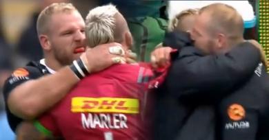 VIDEO. Premiership - James Haskell et Joe Marler tentent de s'étrangler puis se font des câlins