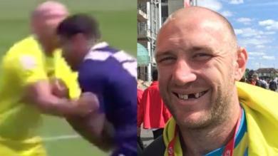 VIDEO. London 7s : un Australien perd une dent après un choc... et demande à l'arbitre de la lui garder !