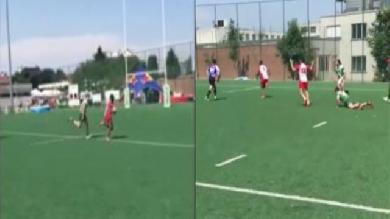 VIDEO. Rugby amateur #67 : il dépose les cartes de visite pour un incroyable essai solo au Brussels 7s