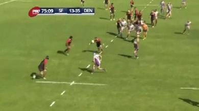 VIDEO. Pro Rugby USA. L'ancien Toulonnais Orene Ai'i feinte la défense de Denver en mode NBA