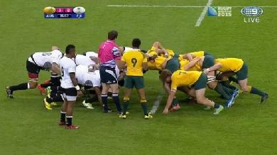 RESUME VIDEO. Coupe du monde. L'Australie réussit son entrée face aux Fidji mais rate le bonus offensif