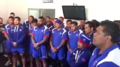 VIDEO. INSOLITE. Les Samoa rendent hommage à Joost Van Der Westhuizen avec un chant traditionnel