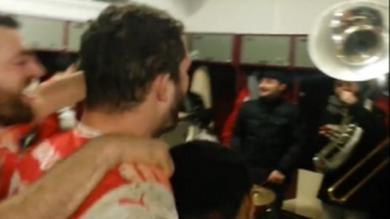 VIDEO. Fédérale 1 Elite - La banda fait vibrer le vestiaire d'Auch après la belle victoire sur Chambéry