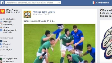 La Coupe du monde du XV de France sur Facebook, épisode 2