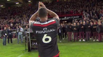 VIDEO. Top 14 - Toulouse vs. Bayonne : La dernière sortie émouvante de Thierry Dusautoir