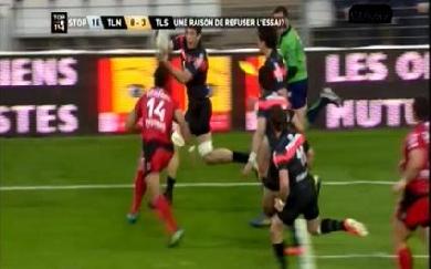 Y avait-il un en-avant sur l'essai de Jauzion contre Toulon ?