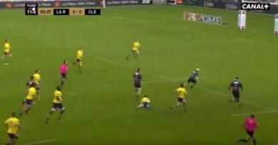 VIDÉO. Top 14 - La Rochelle corrige Clermont avec un essai de 90m après 40 secondes de jeu