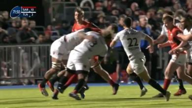 VIDEO. Champions Cup - Toulon. Le caramel terrible de Mathieu Bastareaud sur Alex Lozowski