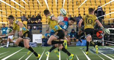 VIDEO. Super Rugby. Le génie de Barrett et la puissance de Laumape font tomber les Blues