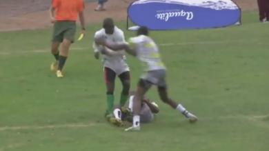 VIDEO. Insolite - Rugby à 7 : il sauve l'essai in extremis en arrachant le ballon des mains de son adversaire