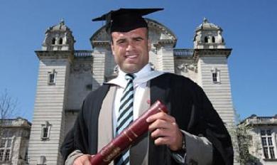 Jamie Roberts a reçu son diplôme de docteur