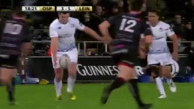 VIDEO. Leinster : Jonathan Sexton régale avec une passe au pied millimétré pour l'essai de Dave Kearney