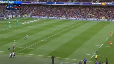 VIDEO. ASM : les explications sur la touche directe trouvée par Camille Lopez en finale de la Champions Cup