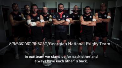 VIDEO. Les Géorgiens en première ligne contre la violence envers les femmes
