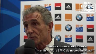 VIDEO. Les réactions de Guy Novès et des joueurs après la victoire du XV de France sur les Samoa