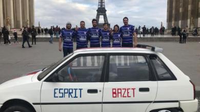 Rugby Amateur - Insolite : les rugbymen de Bazet montent à Paris au volant de la voiture customisée du club