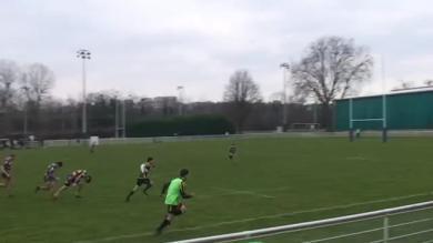 VIDEO. Rugby amateur : 5 défenseurs battus et 80 mètres pour le superbe essai en solo de Cergy-Pontoise