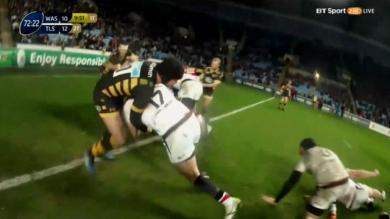 VIDÉO. Champions Cup - L'arbitre a-t-il eu raison d'accorder un essai de pénalité à Toulouse face aux Wasps ?