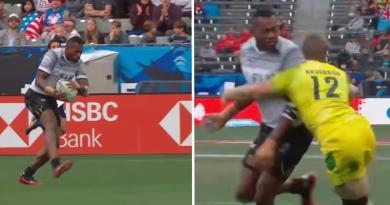 Los Angeles Sevens : la passe complètement dingue du Fidjien Mocenacagi ! [VIDÉO]