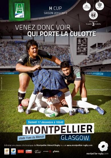 Montpellier va soulever le kilt des Ecossais