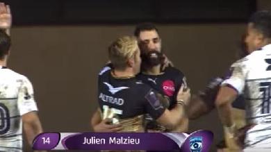 RÉSUMÉ VIDÉO. Challenge Cup : Montpellier bat Cardiff avec le très bel essai de Julien Malzieu