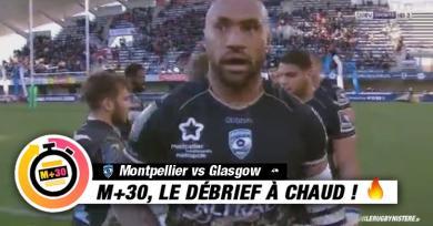 Champions Cup - 4e journée. Montpellier vs Glasgow. Le M+30 du Rugbynistère